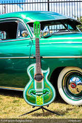 Green on Green (DGNacho.com) Tags: blue green art mexicana wow shiny arte guitar culture mexican chrome bomb lowrider chicana mexicano cultura chicano bajosexto