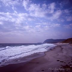 20160320-06 (GenJapan1986) Tags: 2016 fujifilmgf670wprofessional           6x6 film tokyo island travel  japan sea pacificocean landscape beach sky niijima fujifilmprovia400x