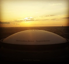 Super sunset (*prakatina*) Tags: city sunset view nola superdome