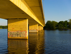 Bridge (micaelwidell) Tags: bridge sea graffiti sweden stockholm farsta sderort
