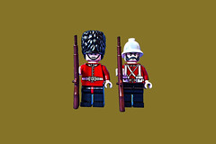 Brothers in Arms (tim constable) Tags: friends vintage soldier uniform lego rifle guard victorian security empire imperial historical minifig redline brotherhood britisharmy mates busby comrades timetable redcoat boerwar sentry bearskin minifigure pithhelmet brothersinarms ceremonial guardsman webbing throughtheages onguard zuluwar timconstable