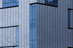Unparalleled (aleadam) Tags: blue abstract building geometric vertical architecture facade grey pattern perspective surreal front line wrong parallel