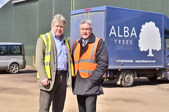 At Alba Trees with CEO Rodney Shearer