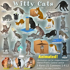 Mutresse@The Arcade in June 2016-Witty Cats Gacha Key (Eeky Cioc) Tags: life original pets animals key mesh second animated gacha scripted