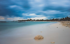 Peaceful Paradise (KD Robinson) Tags: ocean city longexposure morning travel seascape storm color detail beach water beautiful clouds mexico view cloudy oceanview mx impressive akumal quintanaroo