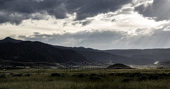 Sunshine on the Line (ebhenders) Tags: mountains lines sunshine clouds montana afternoon power