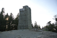 April Bicycle Camping day 4 - Lookout tower on Mount Constitution (Spiral Cage) Tags: april wa pugetsound orcasisland sanjuanislands anacortes bicycletouring springtour eastsound moranstatepark mountconstitution fidalgoisland bicyclecamping cyclotouring aprilbicyclecamping aprilbicyclecampingday4