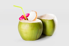 Coconuts (Krunja) Tags: summer food white flower green nature water closeup fruit grey healthy raw natural drink coconut cut juice background object young shell tasty fresh palm cocktail eat health coco round vegetarian tropical frangipani organic concept copyspace diet isolated freshness nutrition refreshment