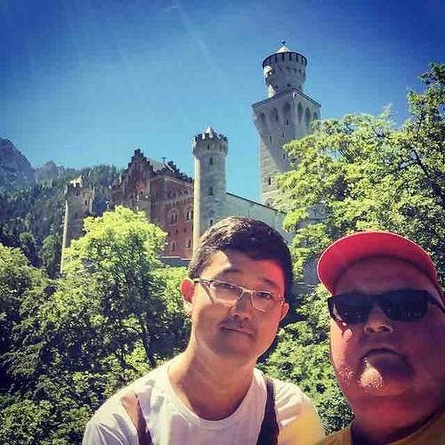 Am heißesten Tag des Jahres mit Ping nach #neuschwansteincastle #crazy #verrückt #thisisgermany #german