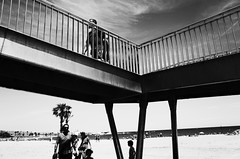 Untitled (nzkphotography) Tags: barcelona street summer blackandwhite sun beach monochrome spain noiretblanc 28mm streetphotography espana ricohgr compact 2016 seriouscompacts