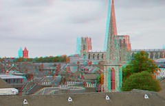 York 3D (wim hoppenbrouwers) Tags: york 3d view anaglyph stereo redcyan