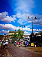 I took this photo a few years ago on a sunny summer Saturday when we were walking around the Newbury Market. It was sunny and fun with family. (Nigel Ivy) Tags: uk travel ireland art photography fine belfast northern nigelivy