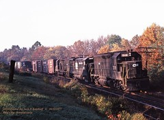 CR 3110-2898-32.., NJ-6, Steel City, PA. 10-22-1977 (jackdk) Tags: railroad train pc railway ge freight lehighvalley cr lv freighttrain conrail emd steelcity gp40 penncentral gelocomotive emdgp40 nj6 steelcitypa