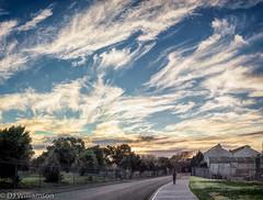 Winter evening Walk - WiIliamstown Dockyards Panorama- Zeiss Loxia 35/2 (djwillia3333) Tags: blue sunset sky panorama zeiss 35mm warm sony williamstown f2 topaz wintery a7ii loxia