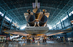 The Discovery orbiter (ep_jhu) Tags: panorama canon virginia us dulles unitedstates pano nasa va shuttle 7d discovery spaceshuttle spacecraft chantilly orbiter udvarhazy sts rcs oms ssme nasm transbordadorespacial
