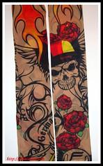 hallfej rozsa tattoo alkar (JuliaCarina Design) Tags: tattoo karra tetovls hallfejes rozsas huzhato hatsu