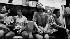 Singapore (ale neri) Tags: street people blackandwhite bw subway asian hands singapore metro streetphotography aleneri alessandroneri