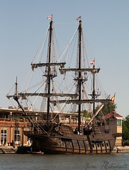 """El Galeon Andalcia"" (canaltowntraveler) Tags: picmonkey tallship gallion elgaleonandalucia rochesterny geneseeriver jimmitchell canaltowntraveler sony squarerigger"