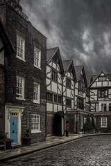 The Queen's Guard (James Waghorn) Tags: door city flowers summer england urban tree london castle heritage rain clouds soldier nikon gun medieval cobblestone bleak toweroflondon coldstream guardsman coldstreamguard d7100 topazclarity sigma1750f28exdcoshsm