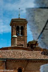 Pozzanghere d'arte (Milano - Basilica di S. Nazzaro) (Gian Floridia) Tags: pool view milano campanile reflexions riflesso pozzanghera snazzaro