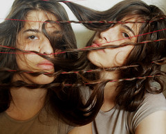 shusuglao (xzwillingex) Tags: portrait selfportrait colour hair photography photo twins indoor strings identicaltwins