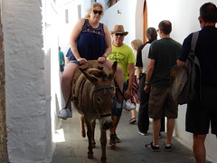 Lindos... Poor donkey! (deltrems) Tags: people men island greek women mediterranean donkey greece med rhodes lindos