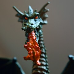 Cold blood, Hot Breath (24/52) (robjvale) Tags: hot cold wings eyes nikon dragon flame burn scales terror hmm hotcold d3200 macromonday