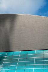 London Aquatics Centre - I (photosam) Tags: fujifilm xe1 fujifilmx prime raw lightroom xf35mm114r xf35mmf14r london england unitedkingdom stratford eastlondon london2012 swimmingpool olympiclegacy architecture modernist zahahadid abstract blue grey