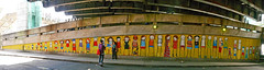 Stik (cocabeenslinky) Tags: road park street city uk bridge england people urban woman streetart man london art lines yellow by writing children lumix graffiti hall paint artist elizabeth photos stickman south centre united capital letters under july posing bank kingdom stickperson can spray southbank queen panasonic filled waterloo skate writers stick belvedere graff se1 artiste the in 2016 stik stikman stikperson 8xx dmcg6 cocabeenslinky