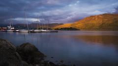 Sunset fiery range (haqiqimeraat) Tags: lochalsh skye sunset nikon 2485 landscape light colours glow fiery