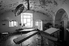 The stuff of nightmares (McQuaide Photography) Tags: tallinn estonia europe northerneurope sony a7rii ilce7rm2 alpha mirrorless 1635mm sonyzeiss zeiss variotessar fullframe mcquaidephotography adobe photoshop lightroom tripod manfrotto light shade shadow wideangle wideanglelens 18mm abandoned prison patarei soviet kgb fsb cccp ussr urbex urban urbanexploration derelict rundown dirty dirt crime punishment rust decay creepy eerie blackandwhite blackwhite bw mono monochrome interior inside indoor naturallight availablelight medical infirmary operatingroom operation equipment fear nightmare phobia nosocomephobia jail correctionalfacility penitentiary criminaljustice imprisoned imprisonment detention disturbing