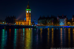 Westminster (James s Wall) Tags: uk longexposure england colour green london heritage westminster yellow night landscape nikon exposure flickr young bigben photograph colourful nikond3200 youngphotographer d3200