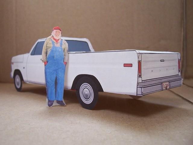 paper toy dukesofhazzard hazzardcounty papercars 1973fordpickuptruck papercarmodels unclejesseduke