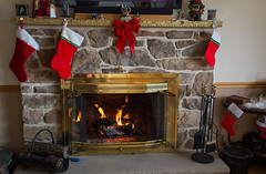 A quiet afternoon (FroseN in Time) Tags: christmas holiday home fire fireplace holidays pennsylvania warmth pa