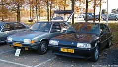 My ex Citron BX 19 GT (1985) & my ex Citron BX 19 TGI Routire (1992) (XBXG) Tags: auto old france holland classic netherlands car french automobile nederland citron voiture frankrijk bergen paysbas laren ancienne witte bx franaise bergenmeeting citronbx nn12gv fdjb96