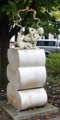 Revolved-Dog-AsanaByAndrewDenton (T's PL) Tags: art artwork nikon tn tennessee knoxvilletn yabbadabbadoo knoxvilletennessee d5100 nikond5100 powdercoatedsteelaluminum revolveddogasanabyandrewdenton charleskrutchpark