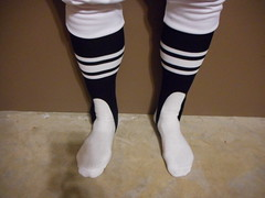 70's 80's Football officials stirrup socks with white knickers. (Football Officials Referee Uniforms) Tags: school white classic college sports field socks vintage back football athletic high referee sock pants knickers side gear canadian line 80s 70s judge league cfl umpire stirrup linesman