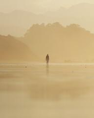 Una paseante (Rubn Daz Caviedes) Tags: espaa costa beach spain playa shore cantabria sanvicentedelabarquera bayofbiscay marcantbrico playademern mernbeach