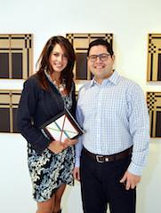 Artist Cristina Chacon with Gonzalo Segnini