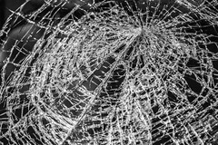 Crash (Ullsclucs) Tags: bw broken glass car nikon pattern close crash bulgaria impact windshield lada d90
