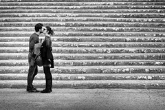 Il Bacio, Florence (D.J. De La Vega) Tags: street boy italy girl florence nikon df kiss italia candid firenze