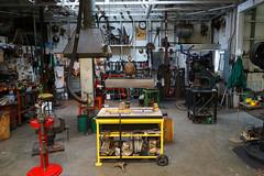 Fabrication Shop (Wolfram Burner) Tags: black metal hammer oregon wayne knife eugene tribute burner goddard anvil eugeneoregon 5160 metalsmithing wolfram smithing forging blacksmithing hammerin knifesmthing