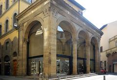 Alberti(?), Loggia Rucellai oblique view