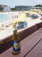 When in the Caribbean, drink Carib.