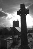 Zennor Church Cornwall (Lark Ascending) Tags: uk england bw church monochrome silhouette death cornwall graves lichen churchyard celtic remembrance tombstones anglican celticcross cofe kernow zennor stsenaras