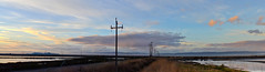 don't pick the middle road (pbo31) Tags: california morning blue color nature northerncalifornia sunrise bay nikon december earth shoreline large panoramic powerlines bayarea eastbay hayward stitched alamedacounty d800 2014