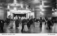 Prestatyn Holiday Camp - Ballroom (trainsandstuff) Tags: vintage postcard retro pontins prestatyn holidaycamp towerbeach cookscamp