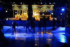Round & round we go... (Huey Yoong) Tags: uk greatbritain nightphotography winter england reflection london twilight nightimages unitedkingdom britain iceskating icerink skaters merrygoround naturalhistorymuseum wintersports winteractivity southengland