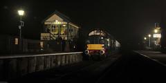 Class 37 At Night (peterphotographic) Tags: uk england station night train dark nikon diesel britain railway essex epping northweald class37 eppingongarrailway d300s northwealdstation dsc3085edwm