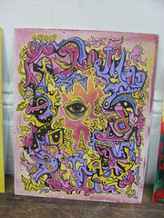 """""""Psychedelic Mess No.3"""" by Michael J Bowman (Gallerymjb The Hyper-Psych Art of Michael J Bowman) Tags: art folkart outsiderart abstractart surrealism surreal popart psychedelic lowbrow juxtapoz popsurrealism visionaryart rawvision michaeljbowman velveetaheartbreak gallerymjb"""